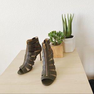 MICHAEL KORS Margaret open toe ivory heels